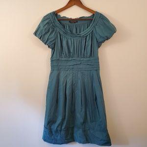 BCBG MAXAZRIA teal blue ruffle dress size 8